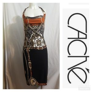 Gorgeous Cache dress with a pattern of chains and